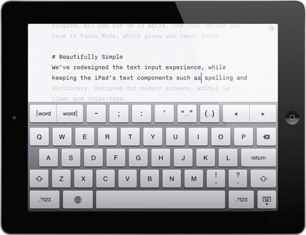 iaWriter, an editor for iPad