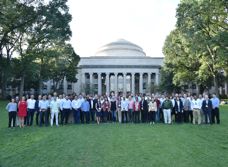 Group picture in front of the MIT Dome